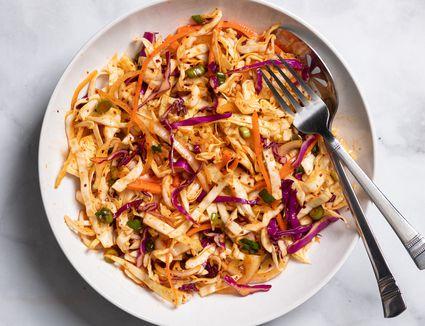 Quick and Easy Spicy Korean Coleslaw