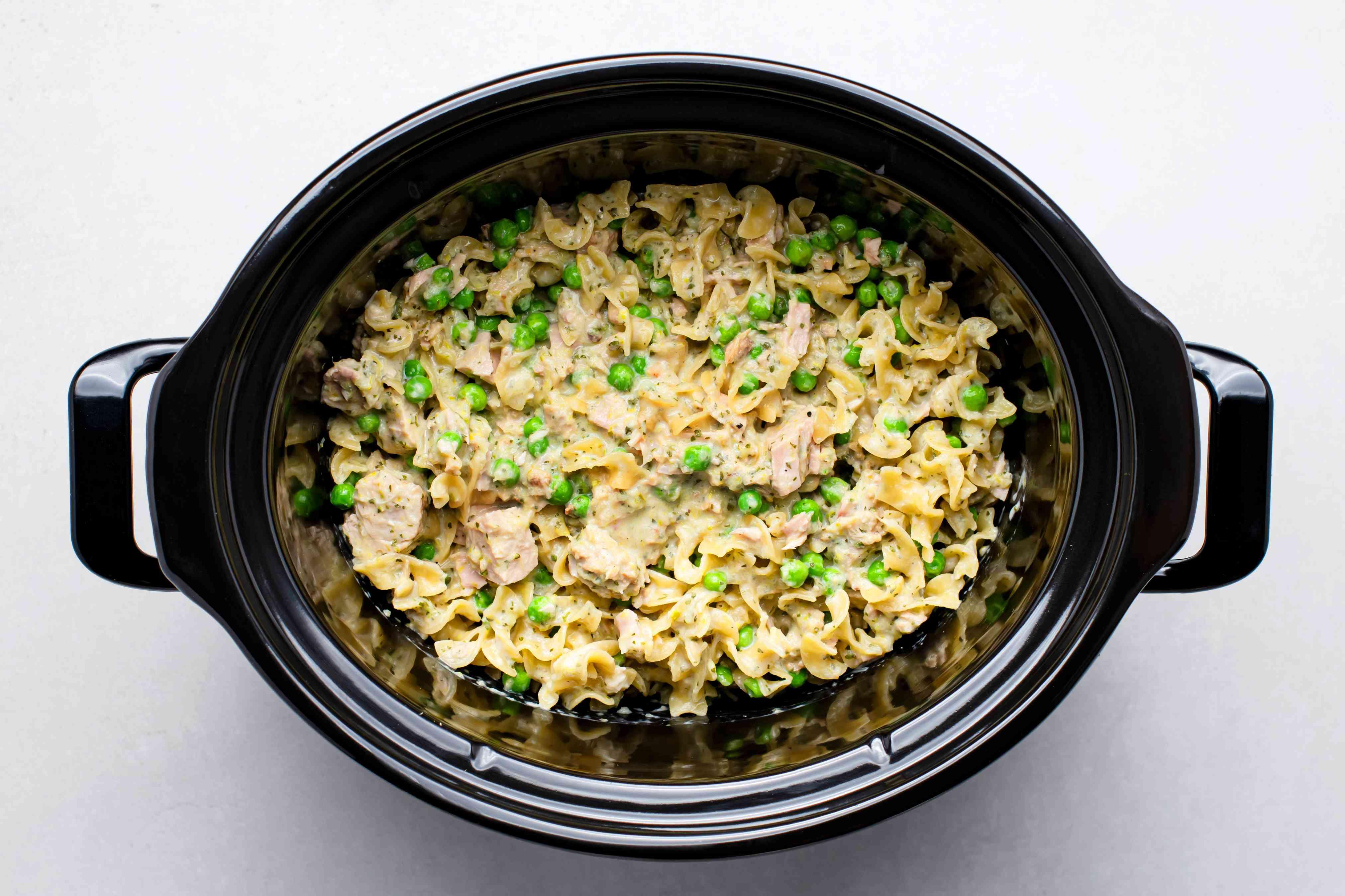 tuna casserole in a Crock Pot