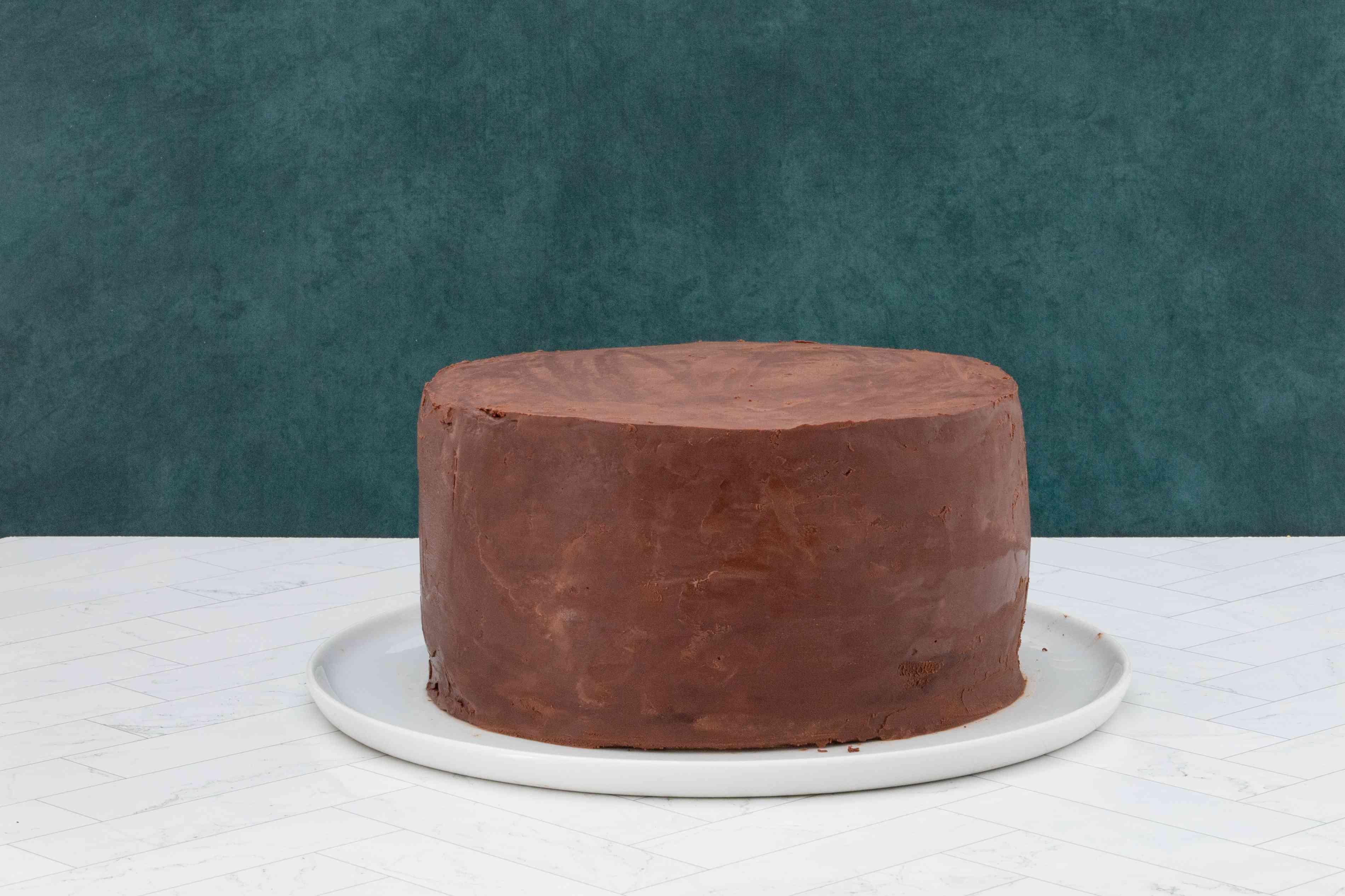 ganache-covered doberge cake