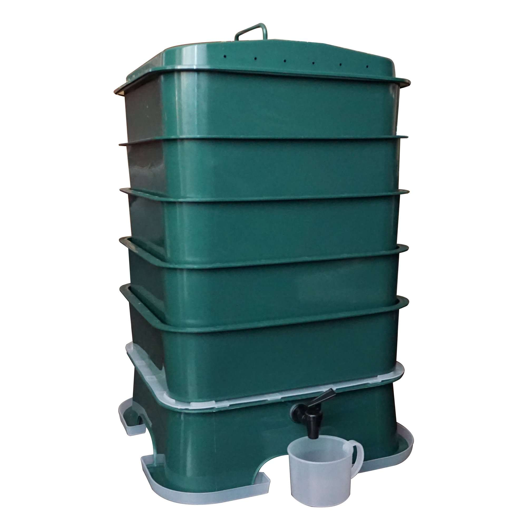 VermiHut Plus 5-Tray Worm Composter