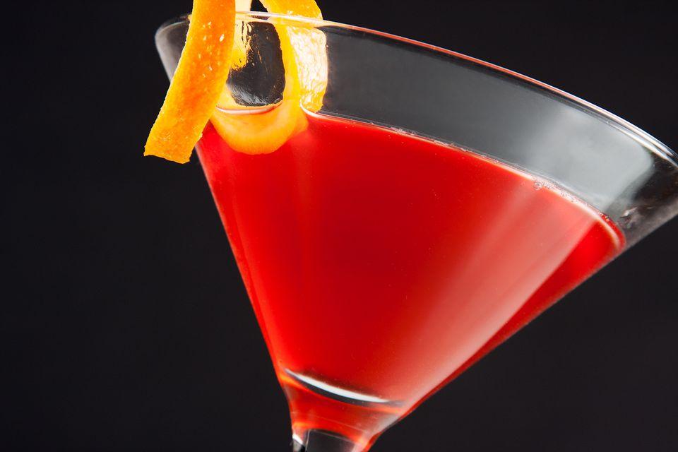 Receta de Martini de granada de durazno
