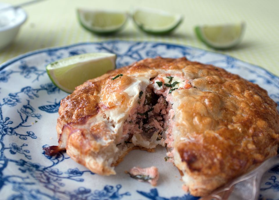 Salmon in Puff Pastry Pasty