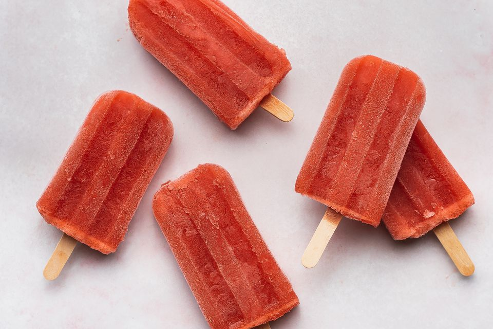 Strawberry Champagne Popsicle