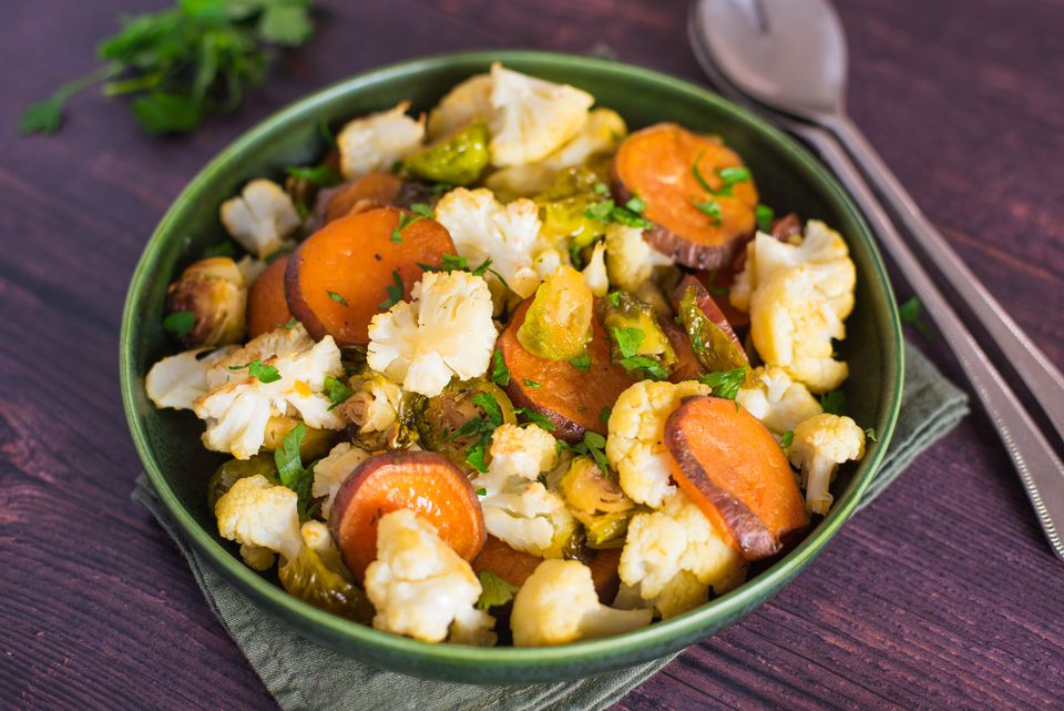 Oven roasted mixed vegetables