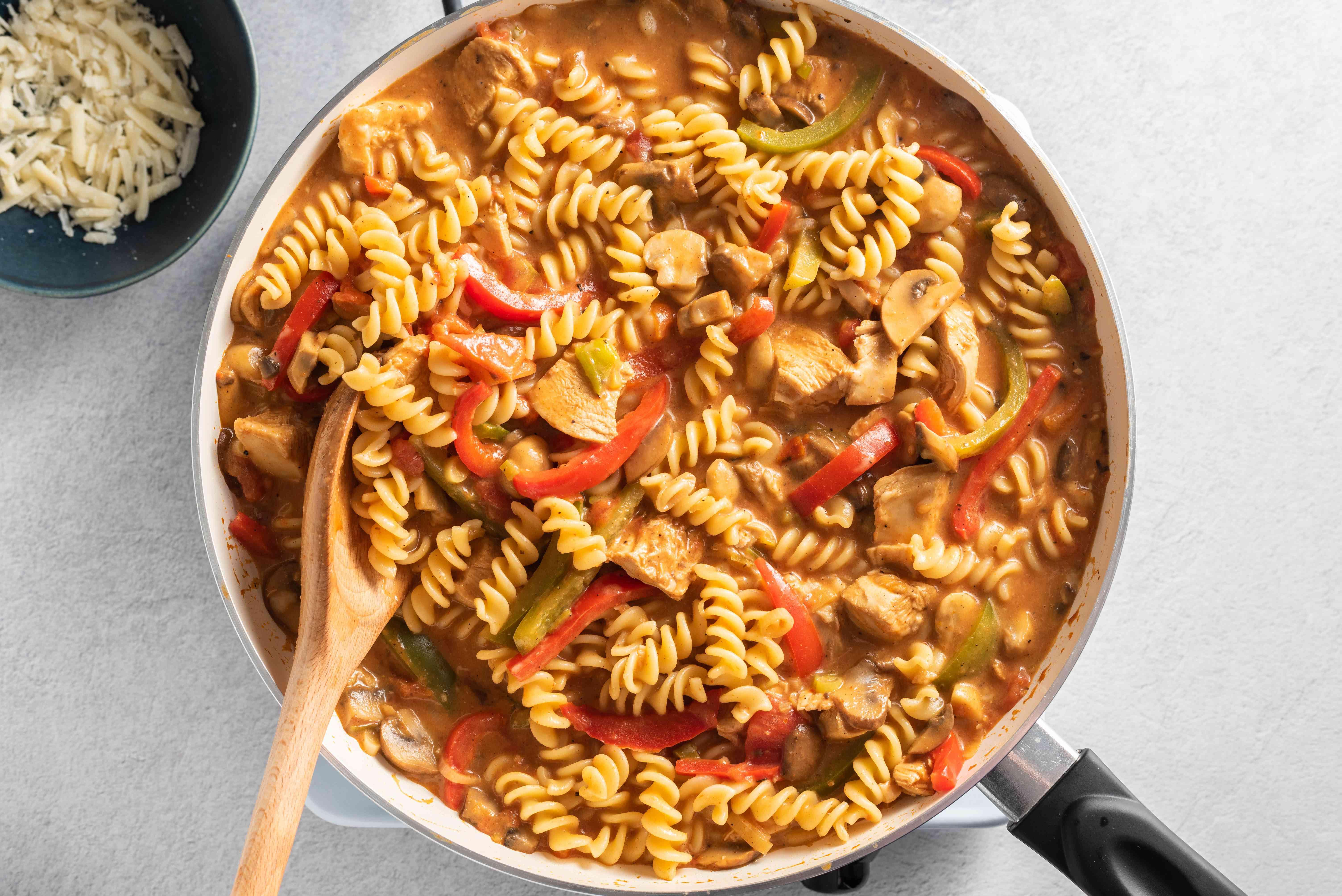 Stir in Parmesan cheese