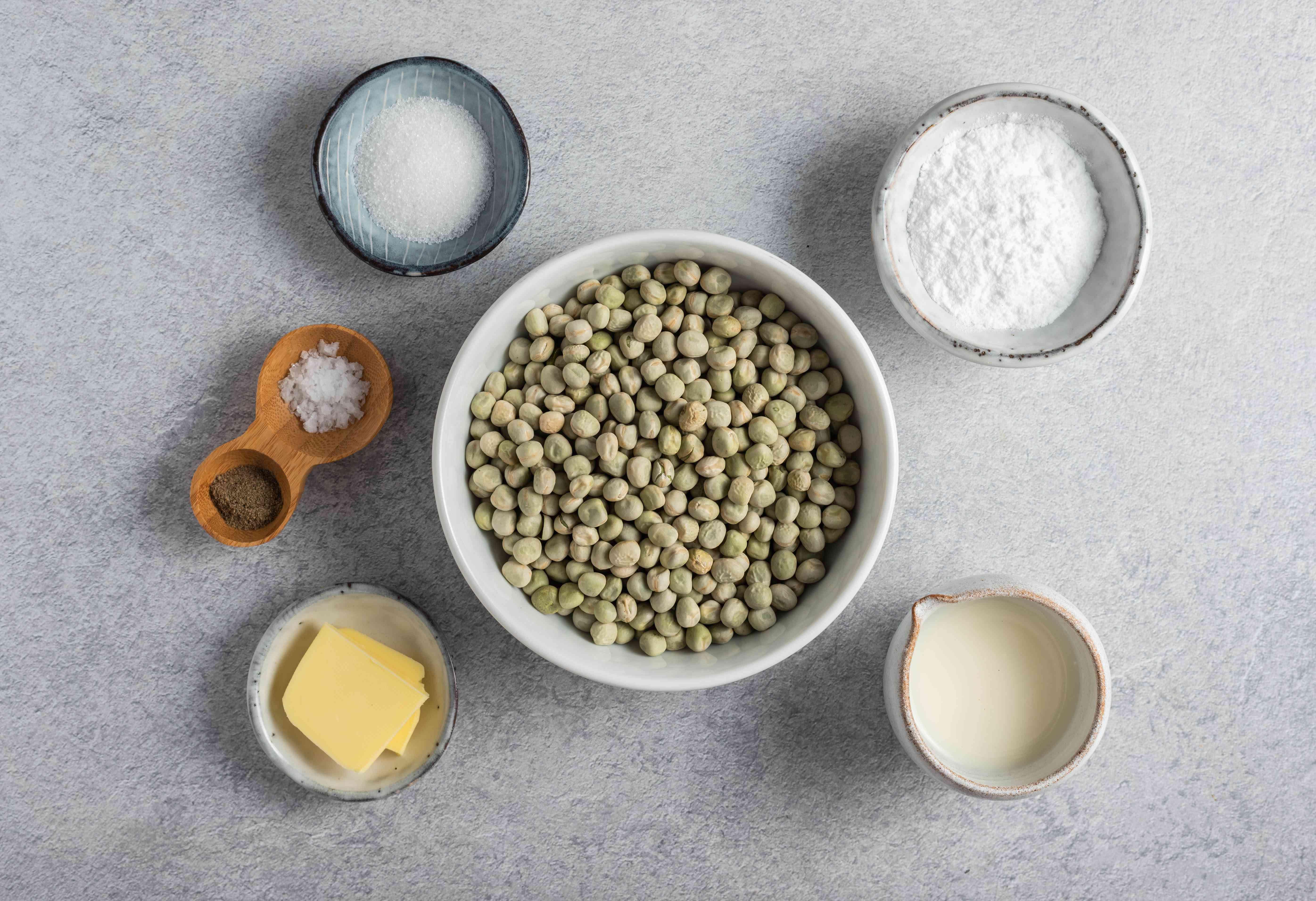 Ingredients for mushy peas