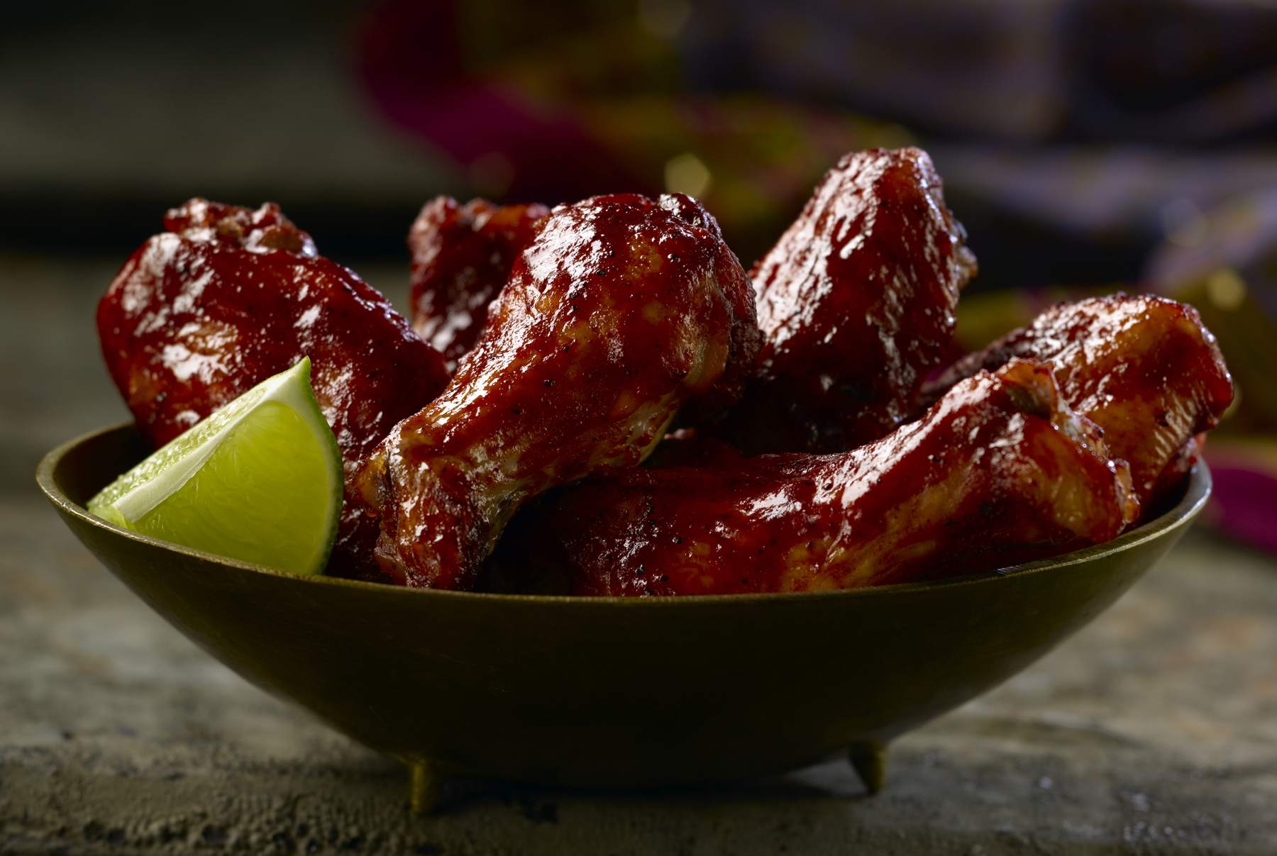 Spicy slow cooker barbecue wings