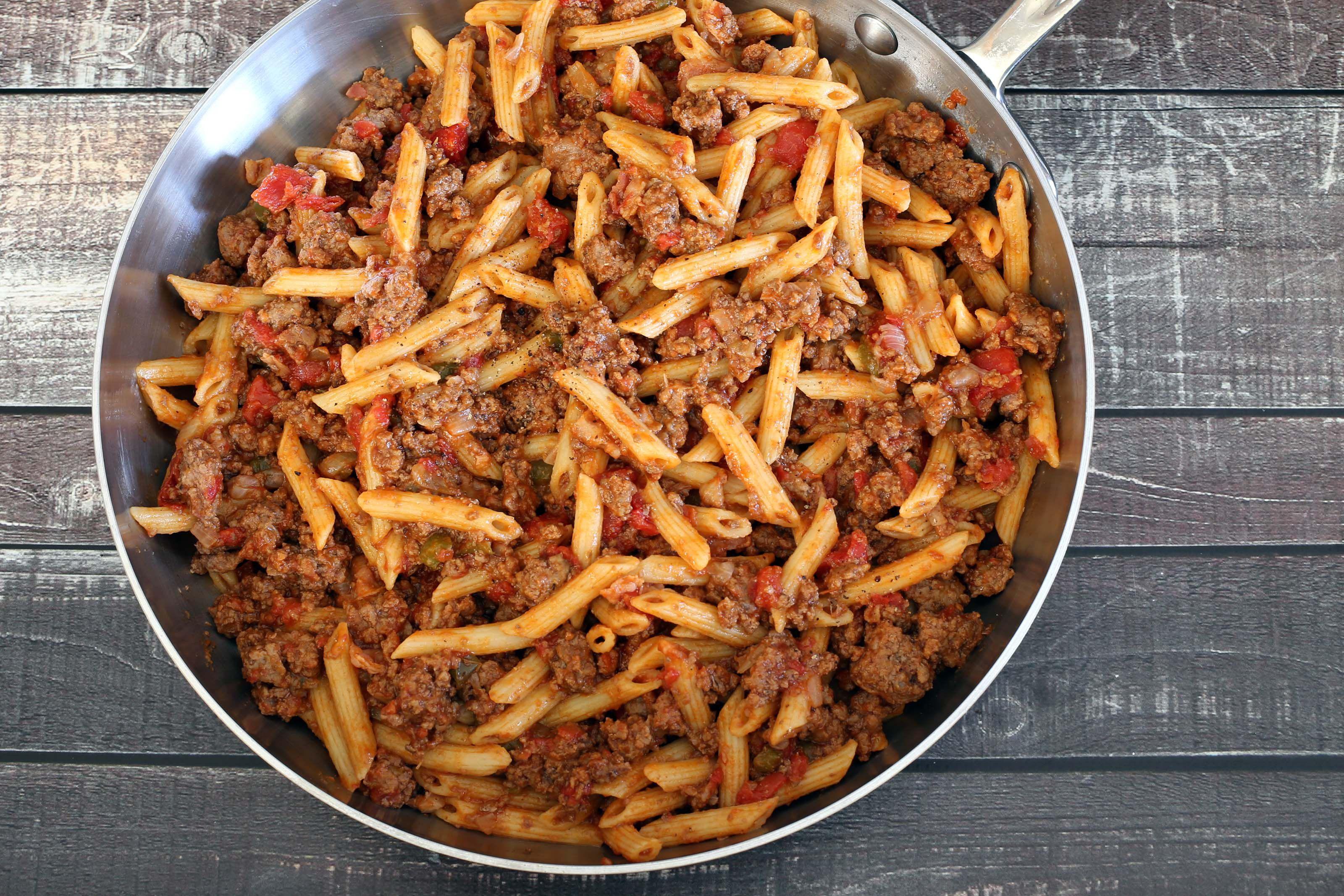 Hamburger and Pasta Skillet