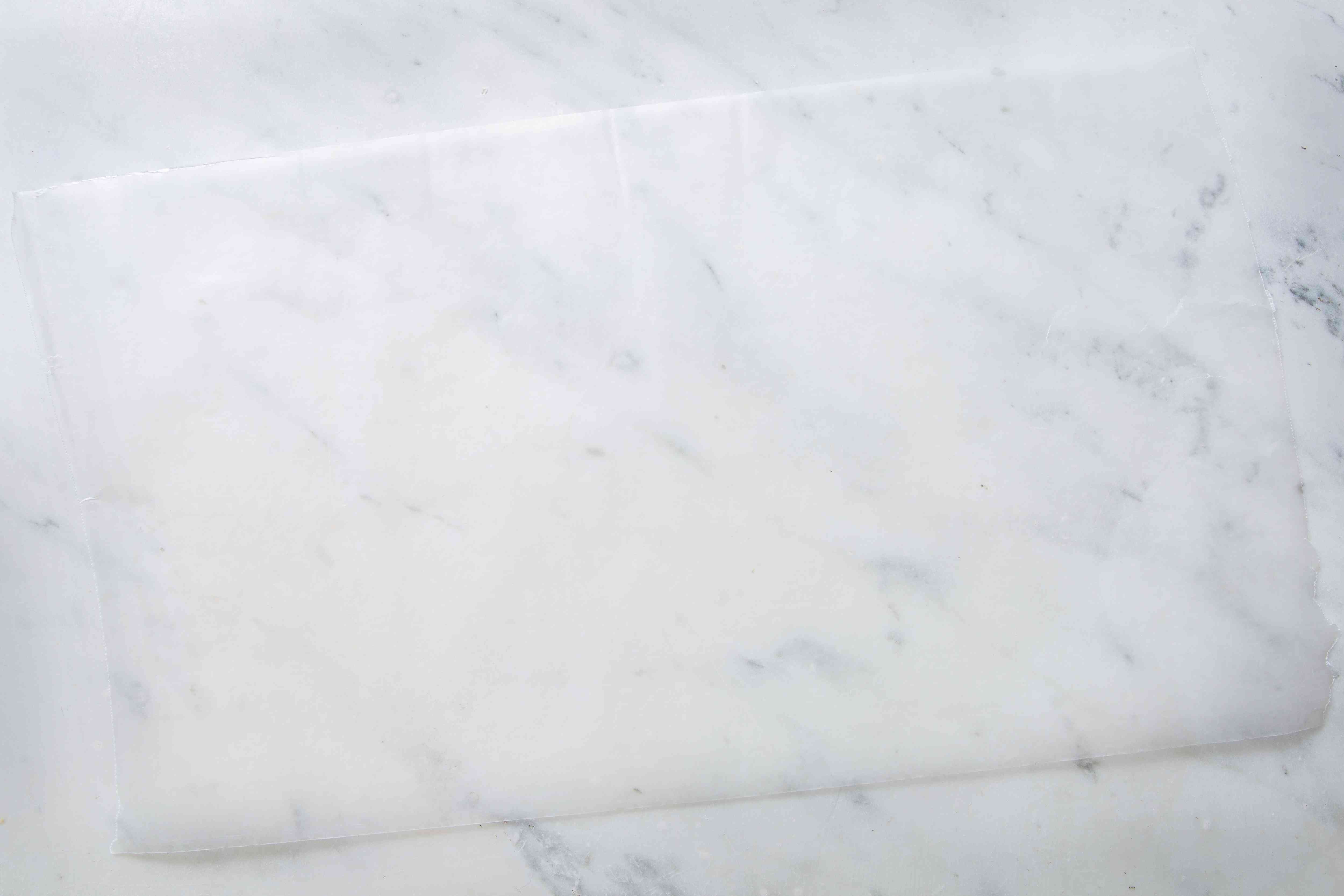 Waxed paper on a marble countertop