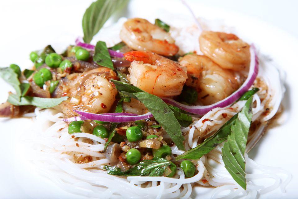 Receta de fideos de coco Thai sin gluten