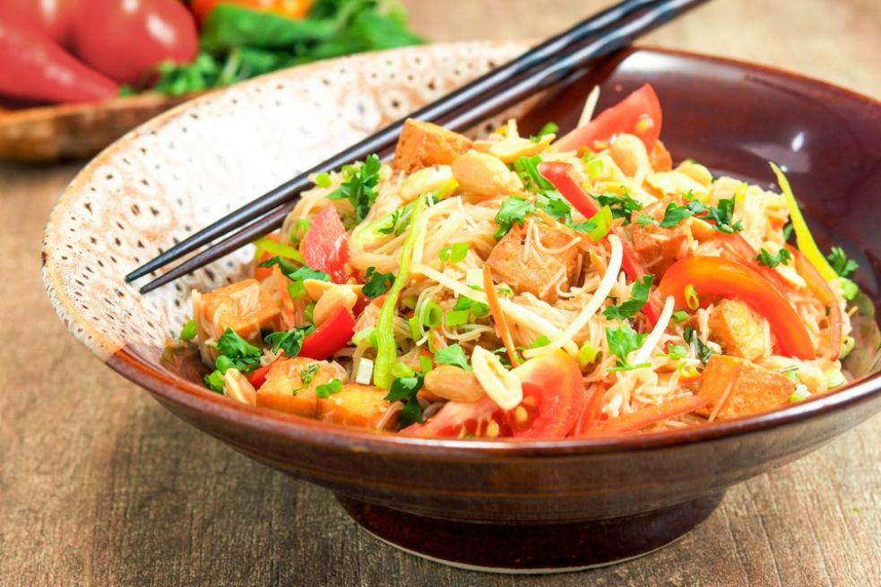 Thai Rice Noodle Salad With Chili-Lime Vinaigrette