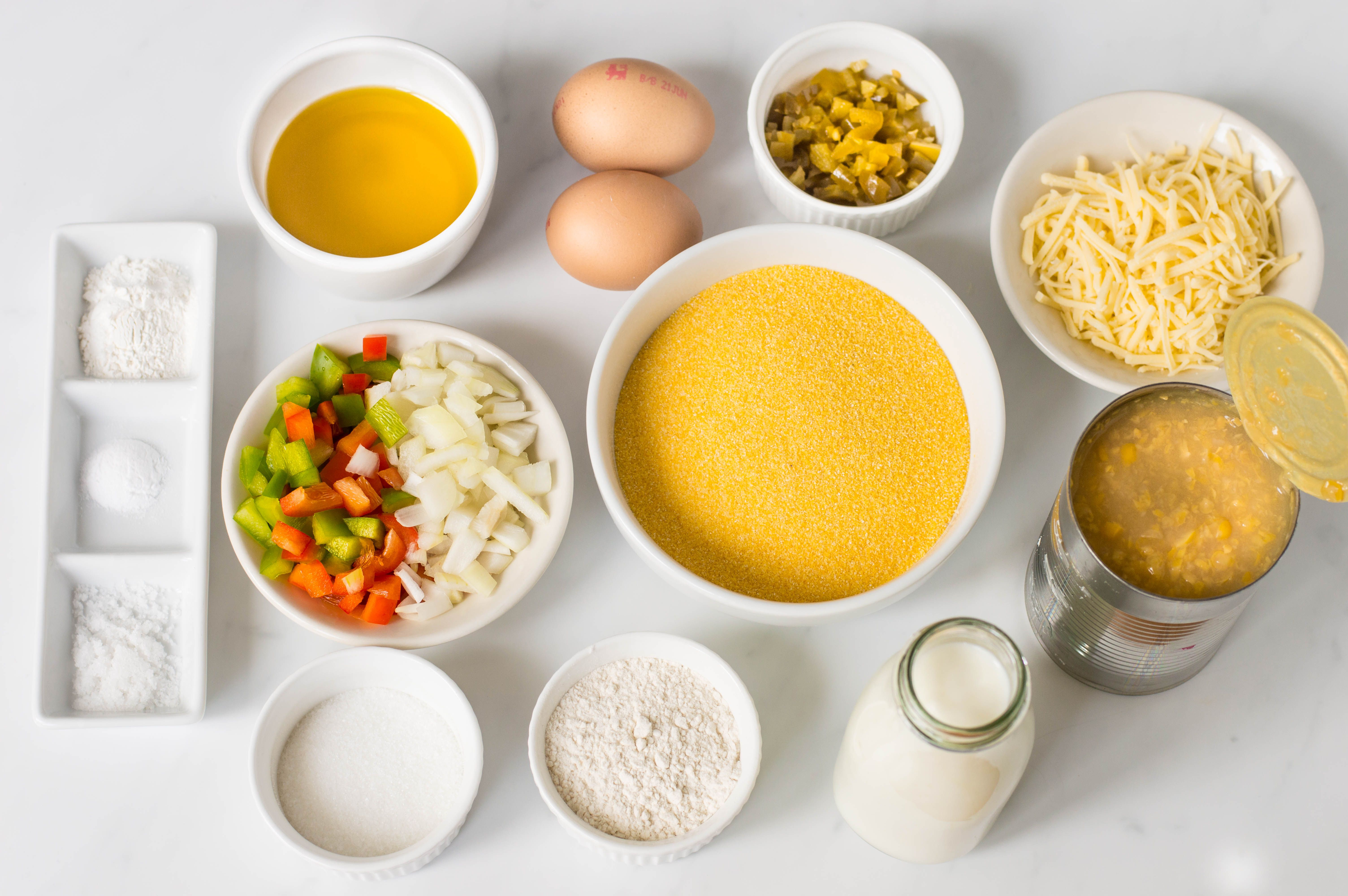 Ingredients for Mexican Cornbread