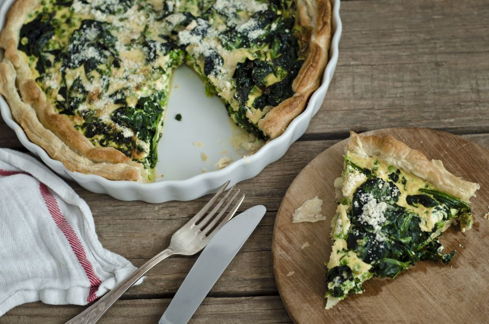 Low-Calorie Spinach Parmesan Quiche