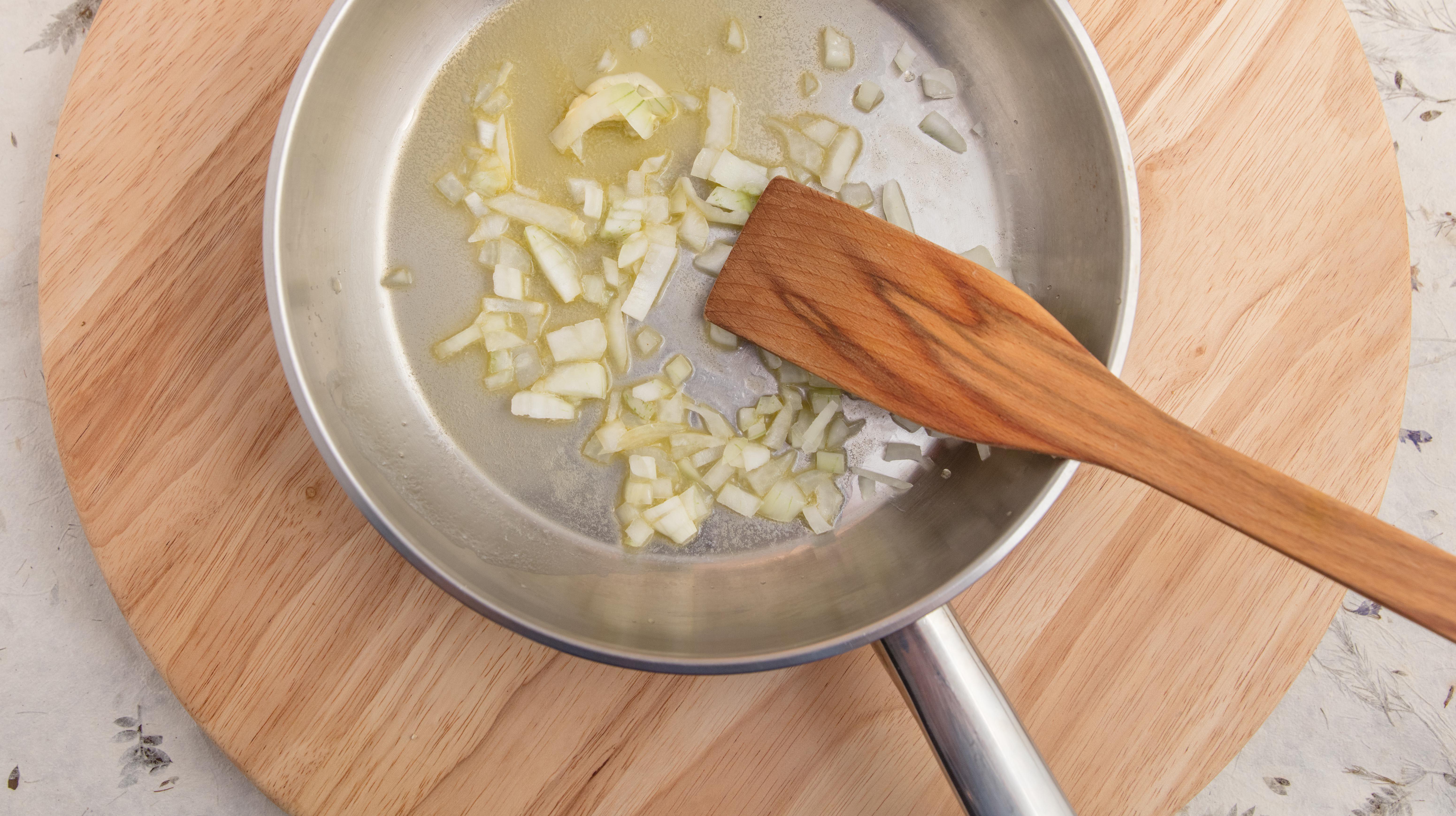 Onion sautéing in butter