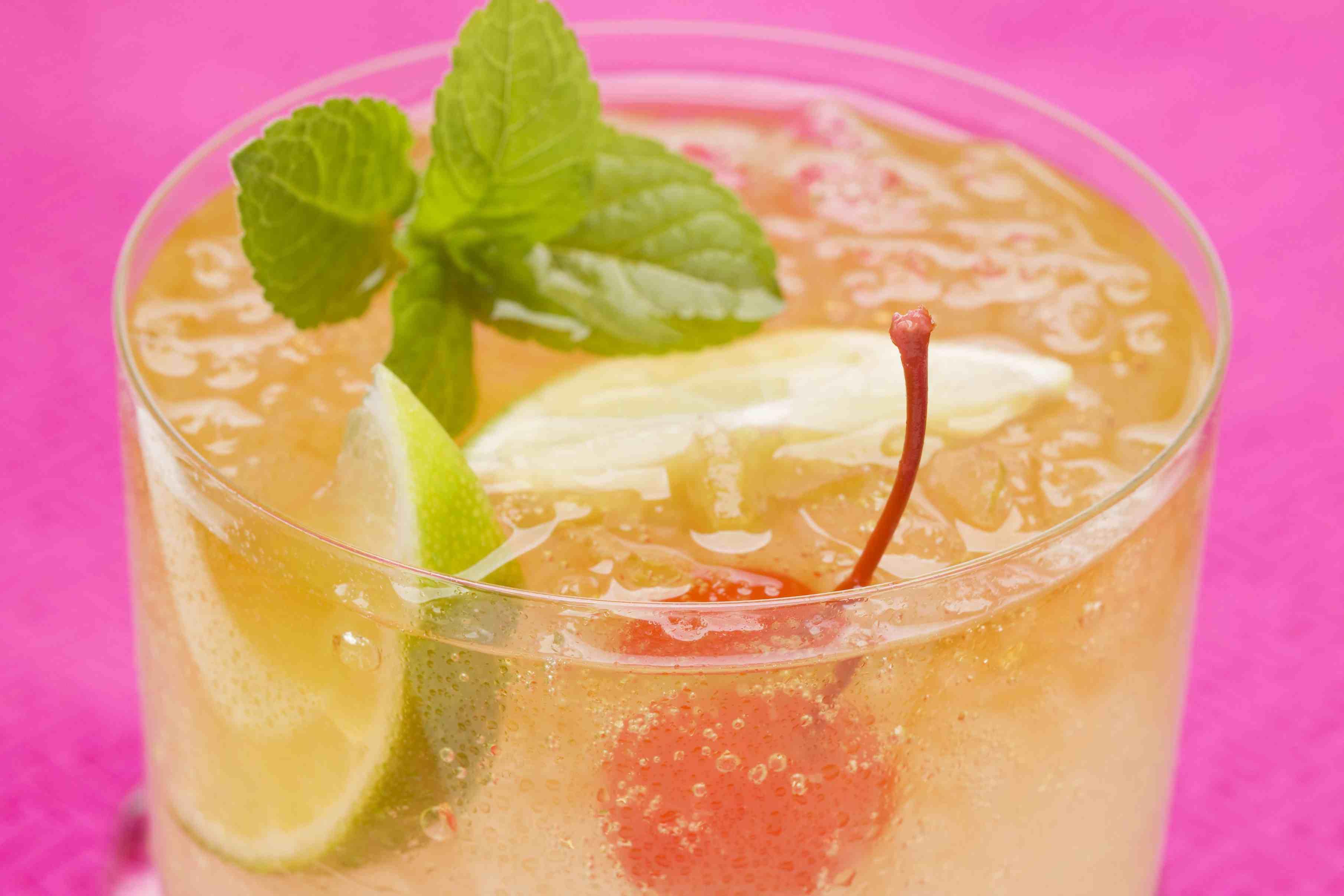 Apricot Sour Cocktail