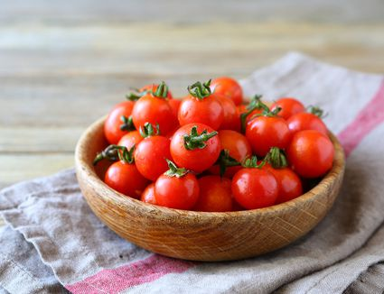 Sweet cherry tomatoes in a bowl