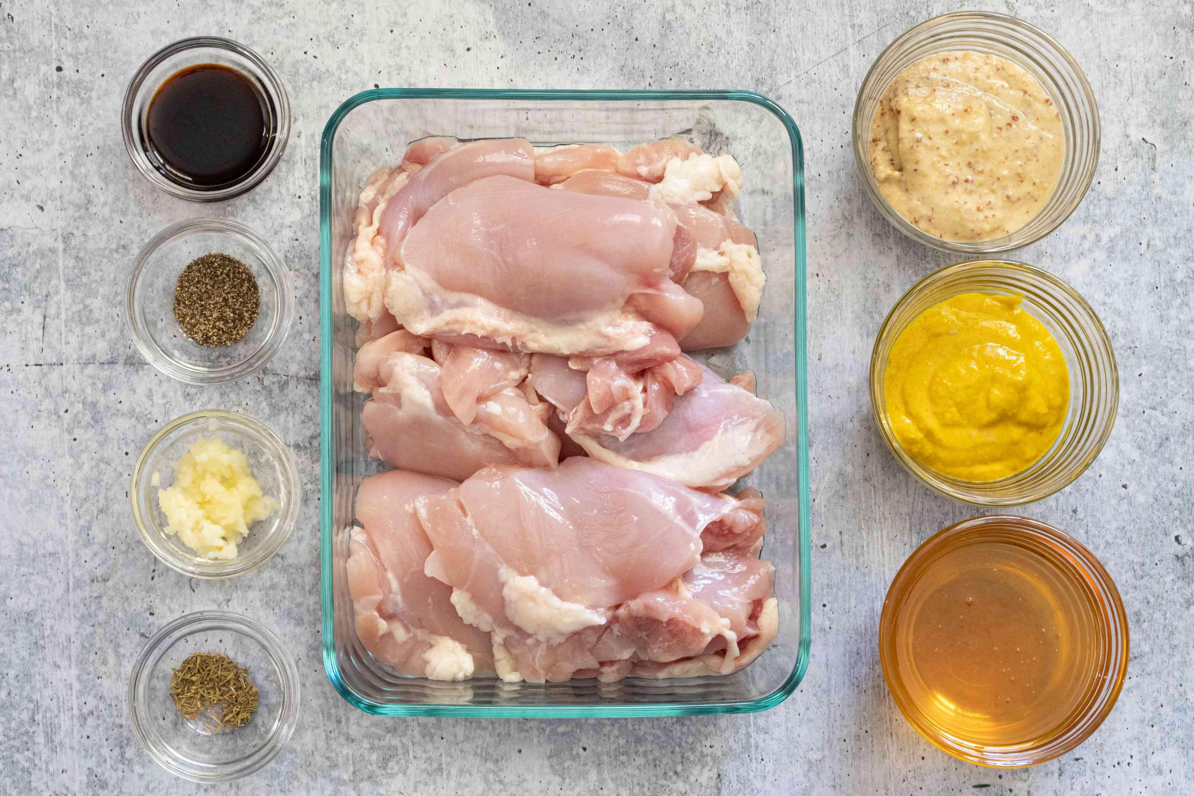 ingredients for slow cooker honey mustard chicken