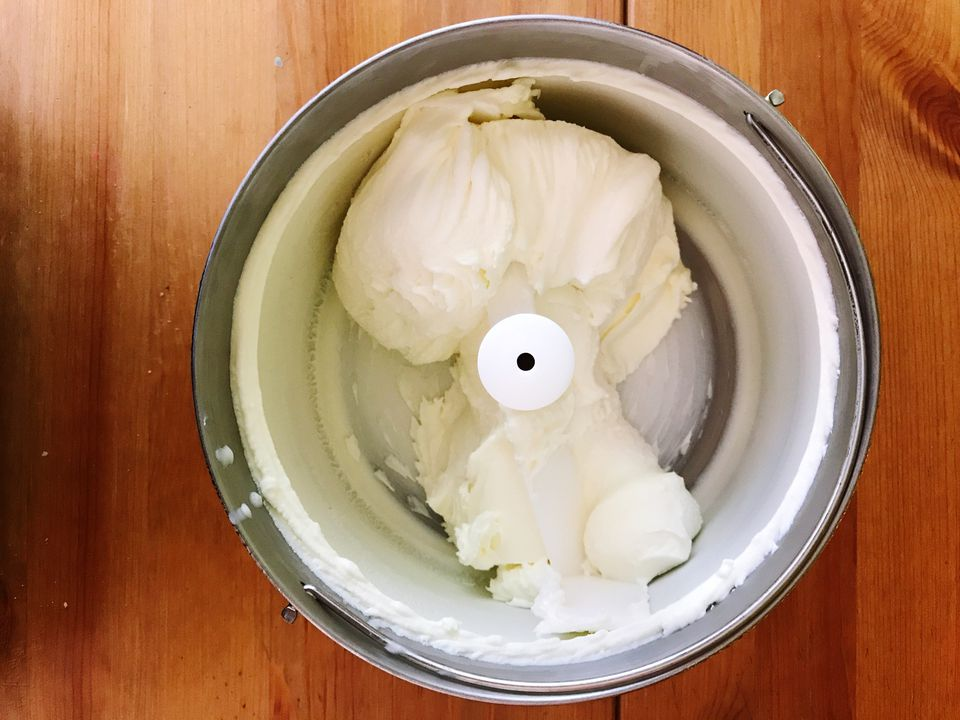 Top view of an ice-cream maker