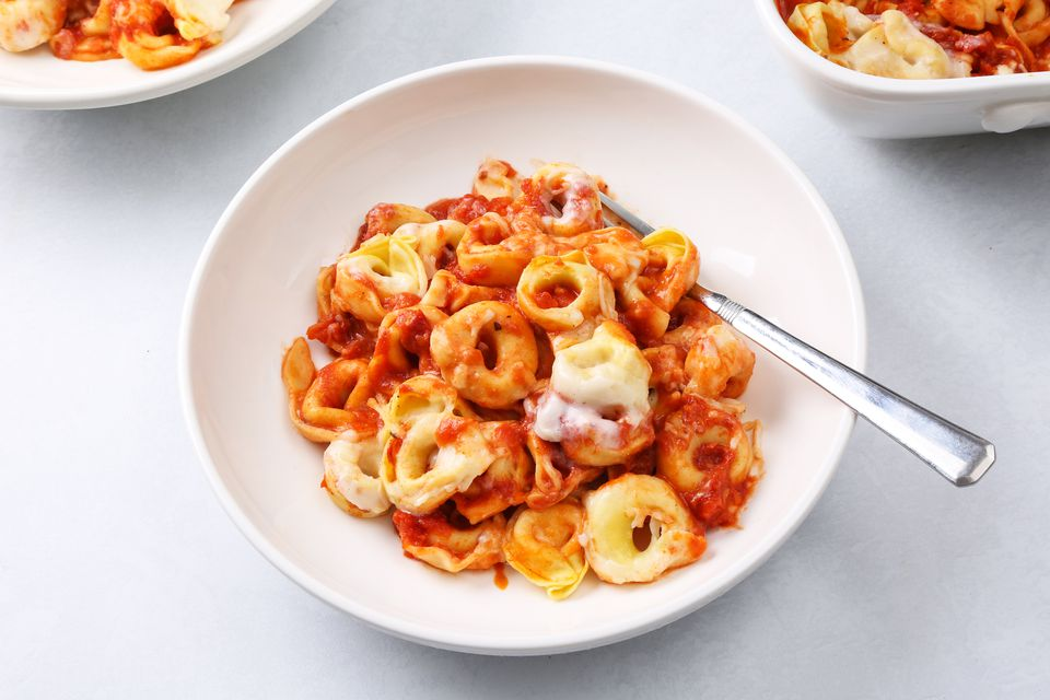 Red and White Tortellini