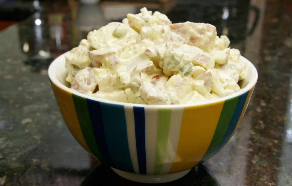 Sour Cream Potato and Egg Salad