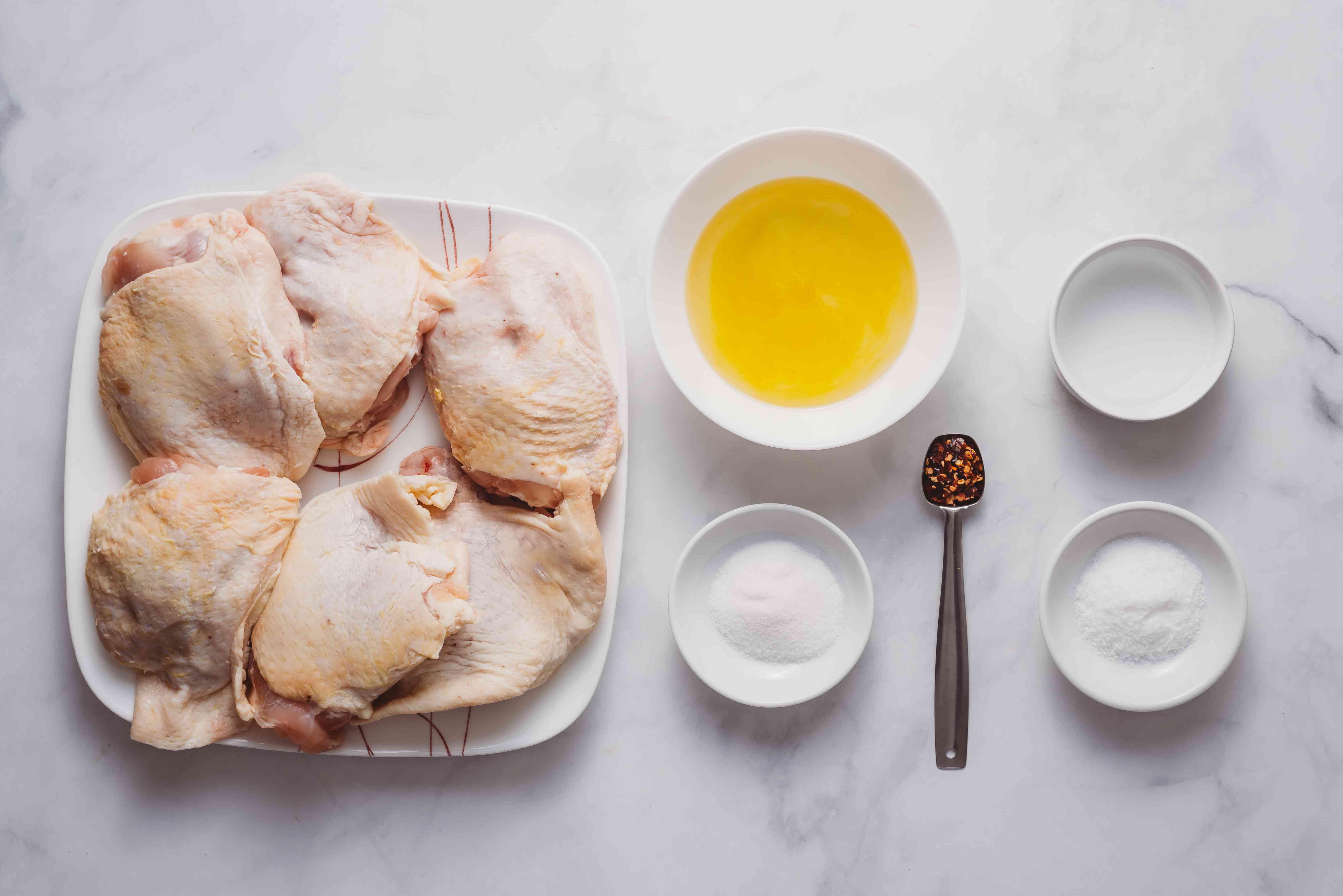 Delicious Grilled BBQ Chicken Thighs ingredients
