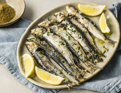 Moroccan baked sardines