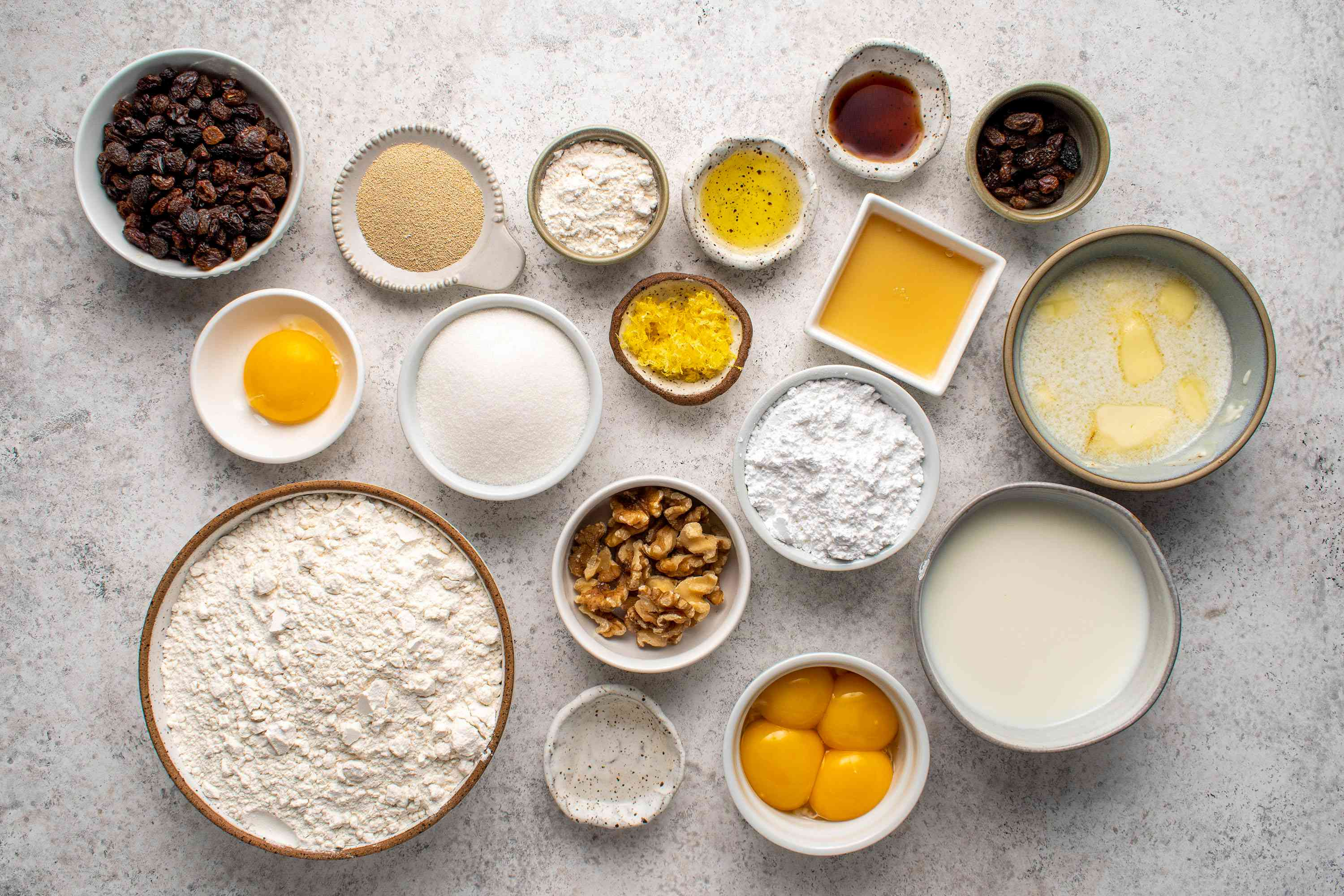 Cozonac: Romanian Easter and Christmas Bread ingredients