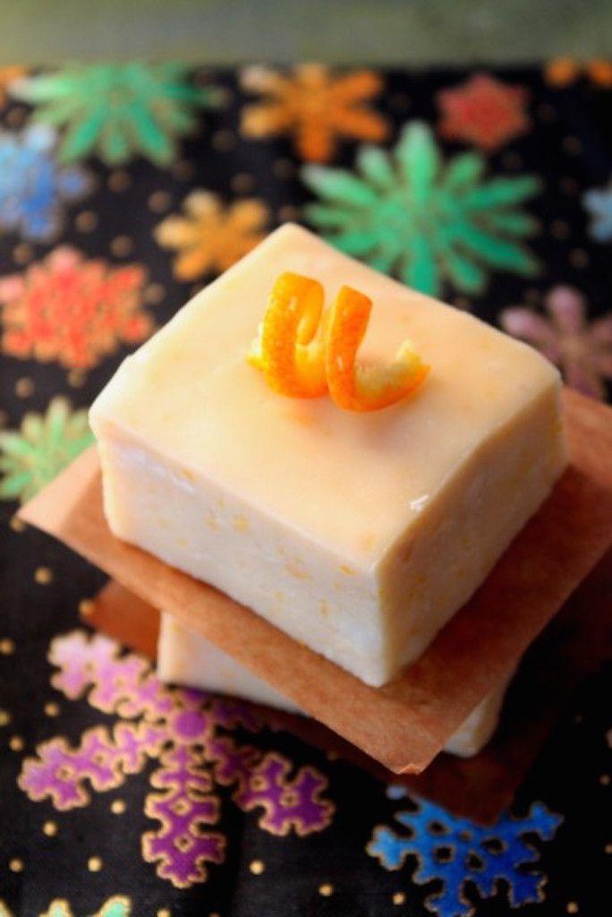 Creamsicle Fudge with Orange Peel
