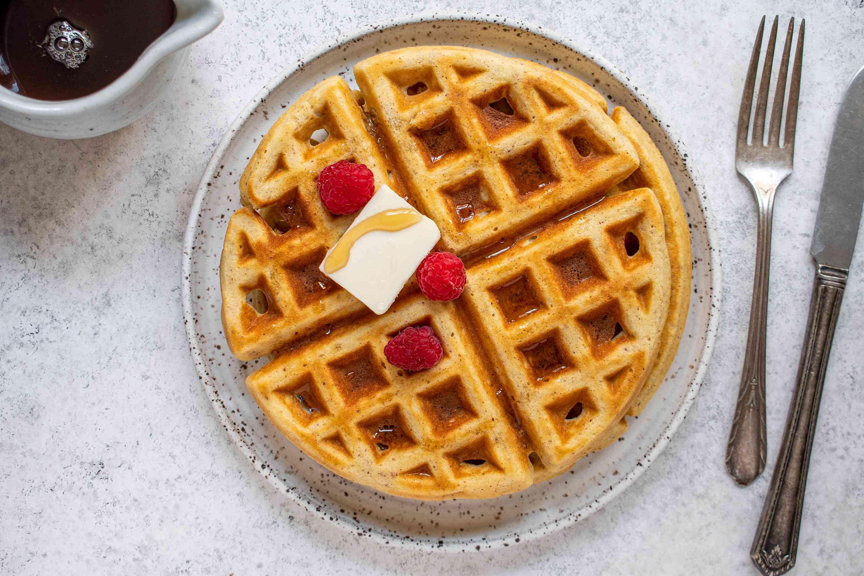 Keto Waffles on a plate