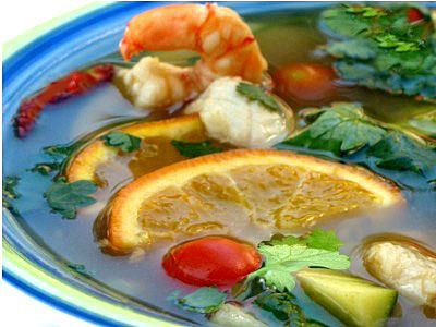 Special Thai orange soup