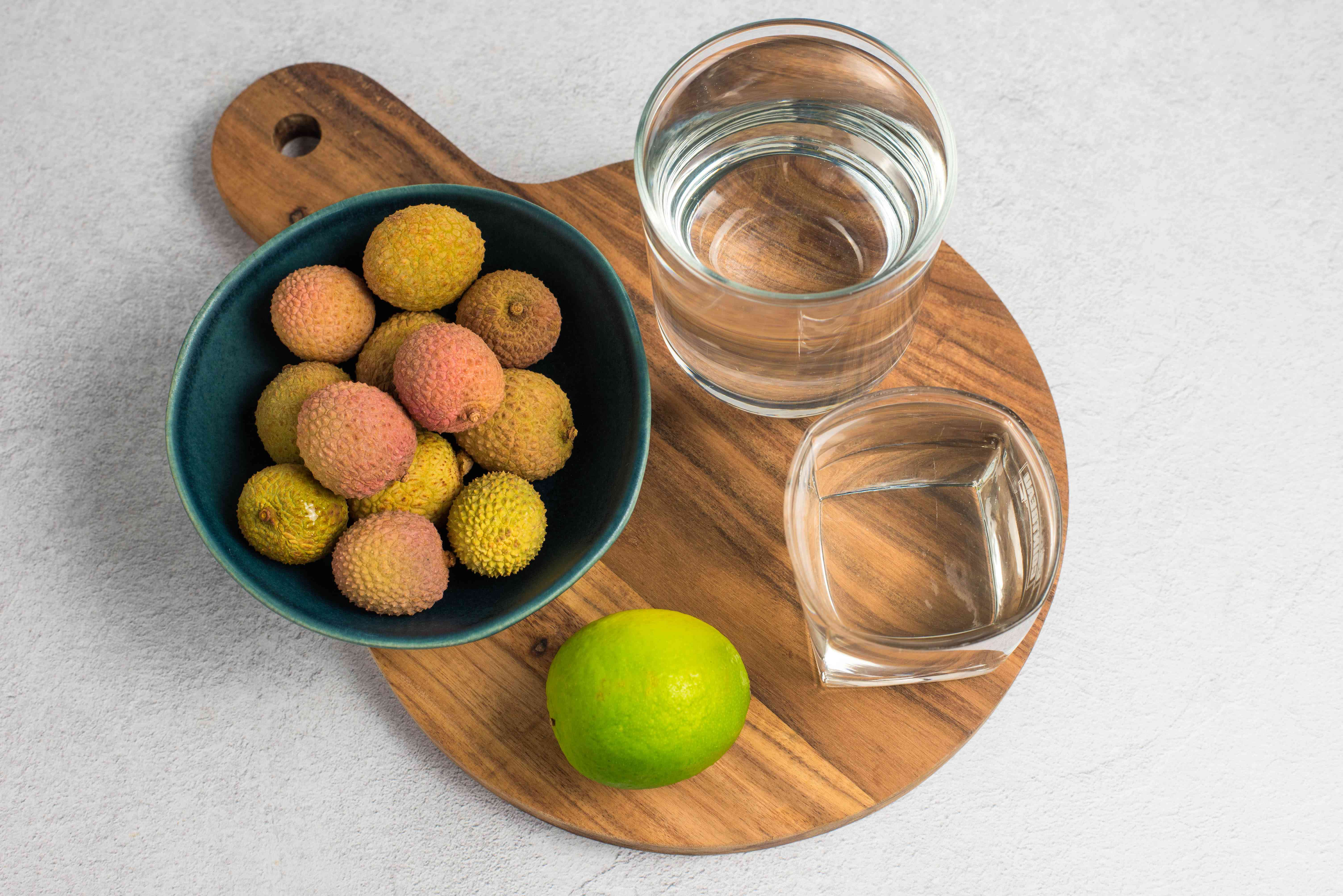 Ingredients for lychee liqueur