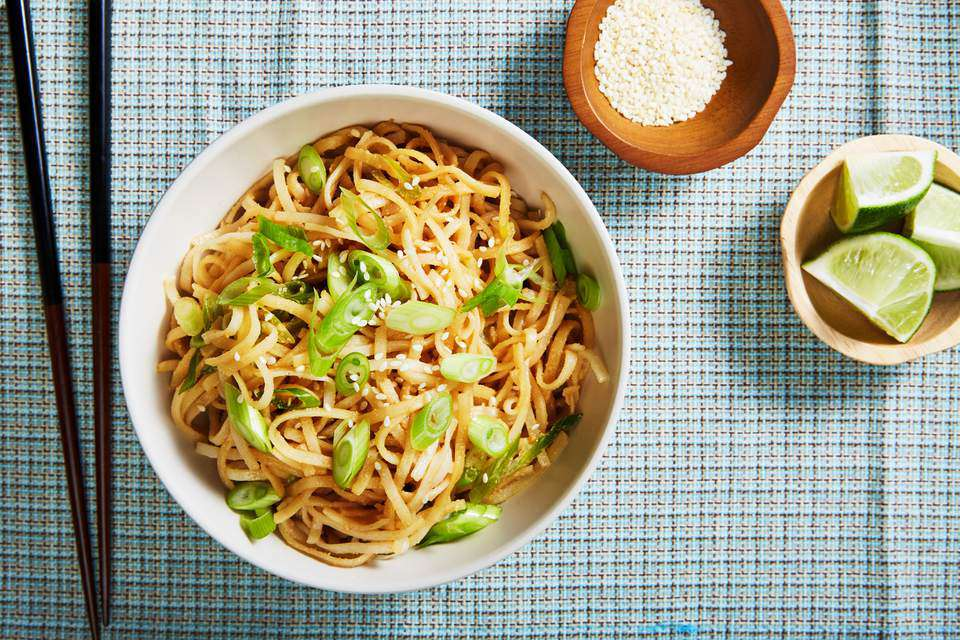 Gluten-Free, Vegan Chinese Cold Sesame Noodles