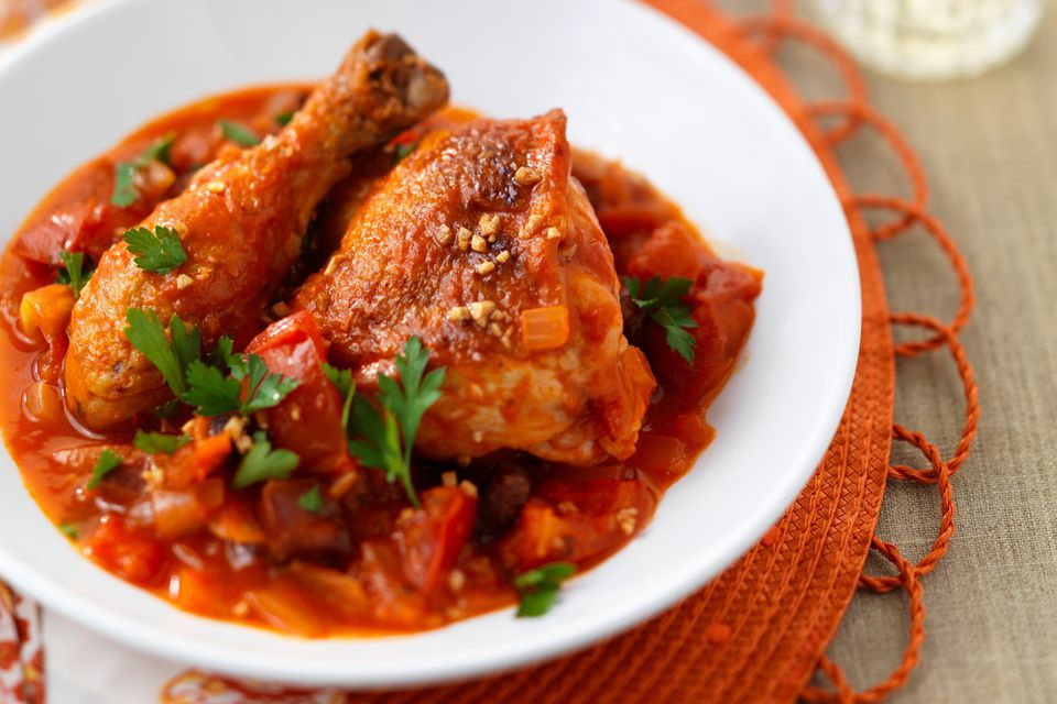 Chicken Oregano With Garlic and Tomatoes
