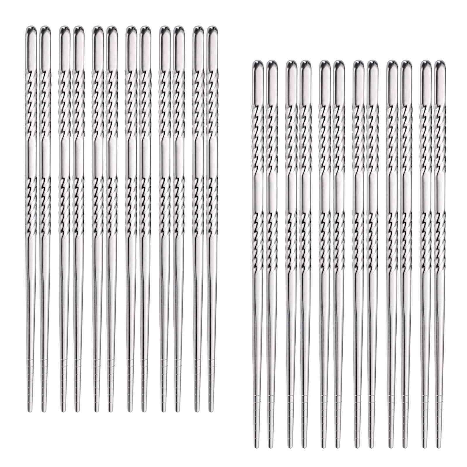 Hiware Reusable Metal Chopsticks