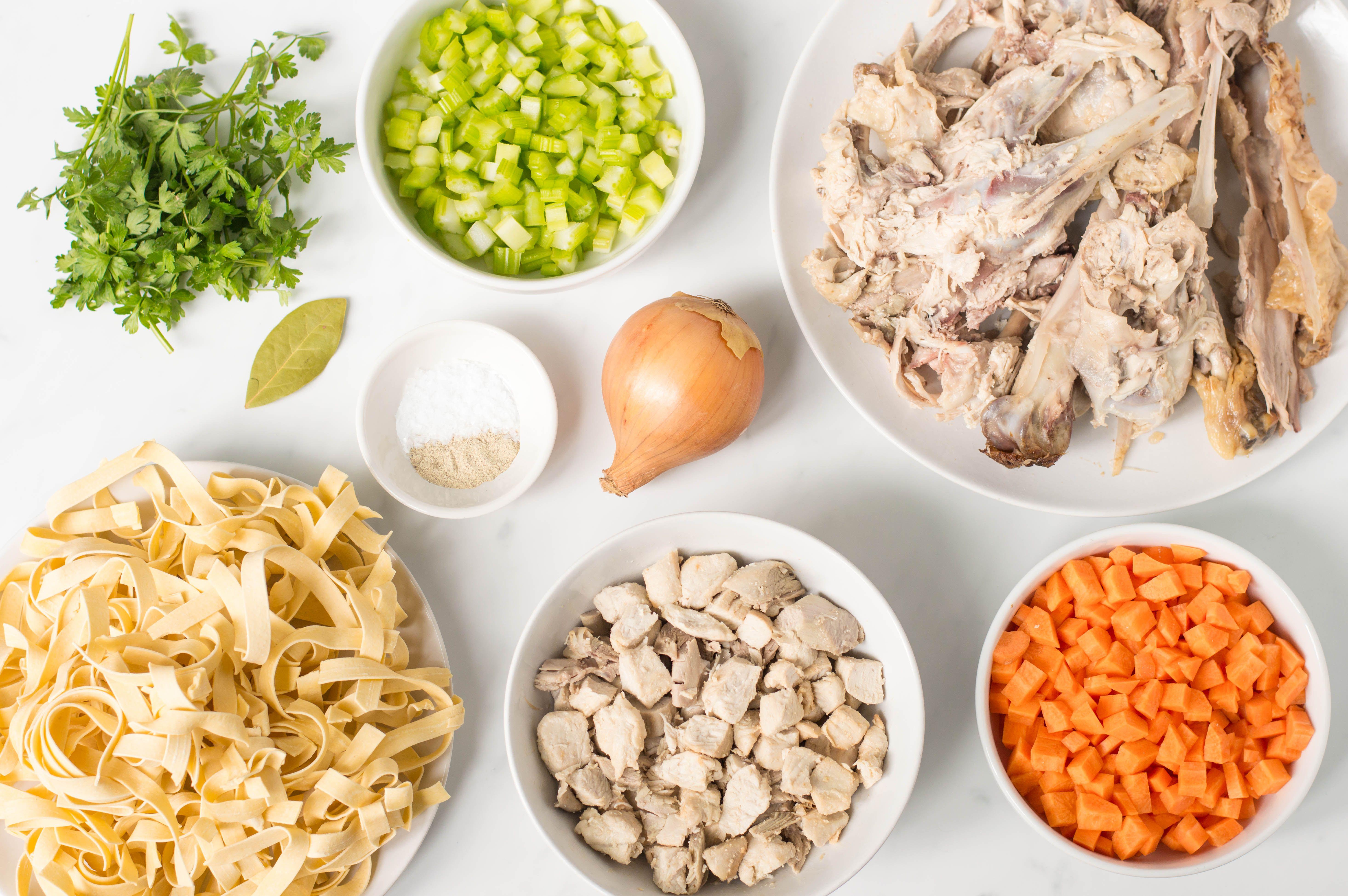 Turkey Noodle Soup Recipe ingredients