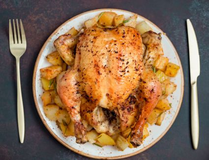 Iron skillet roasted chicken