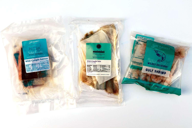 Sunbasket seafood in packaging