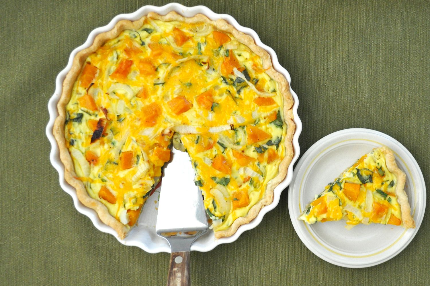 Fall Quiche With Roasted Butternut Squash