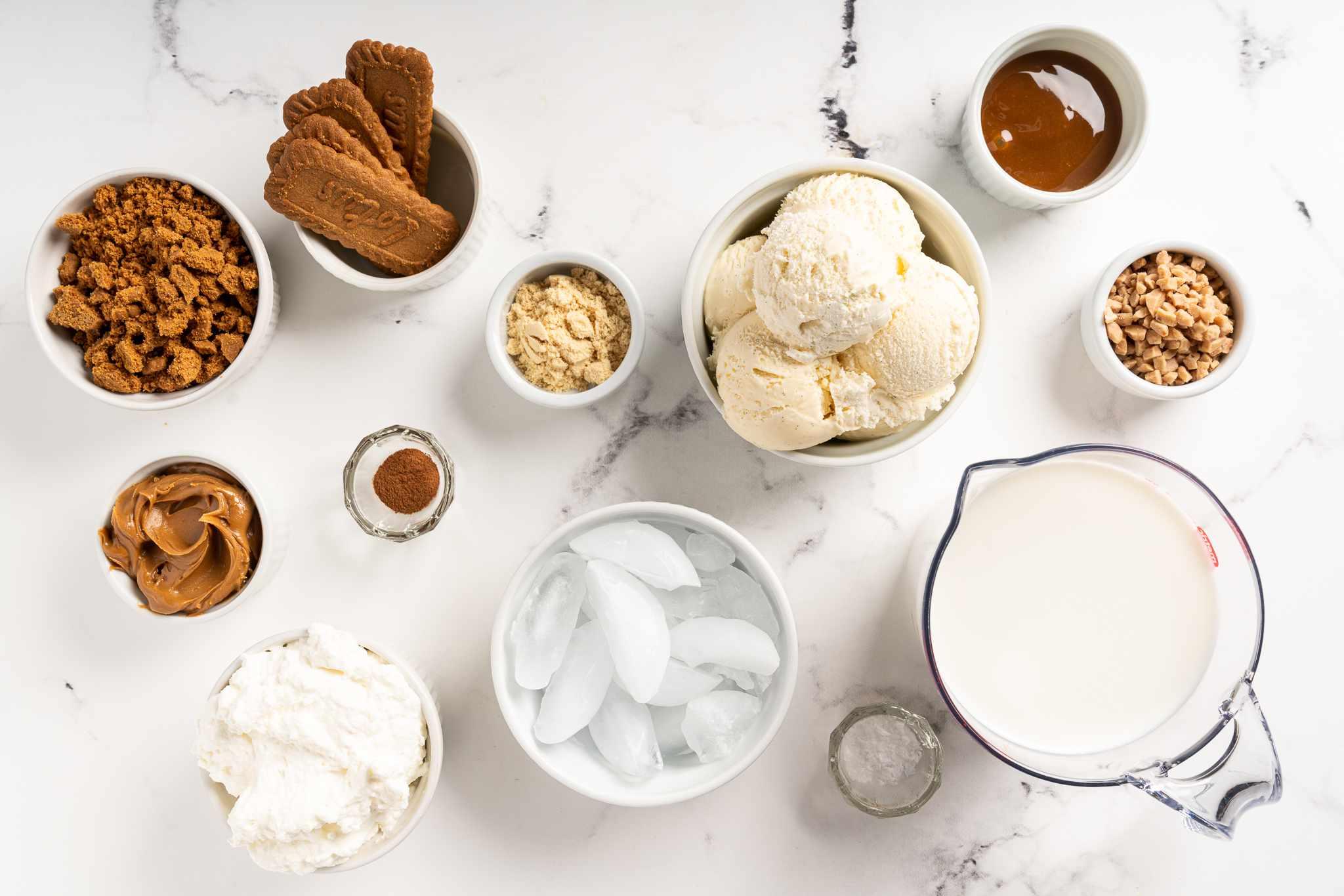 Toffee and Salted Caramel Biscoff Malted Milkshake