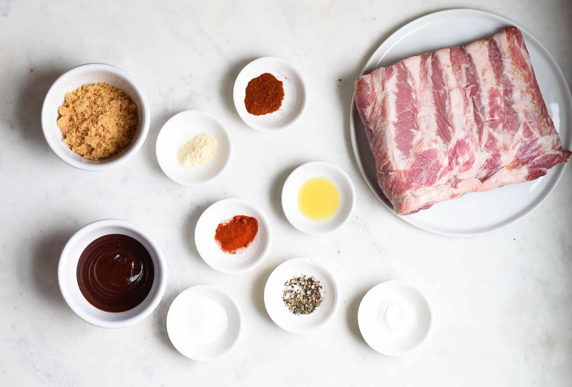 Sous vide rib ingredients