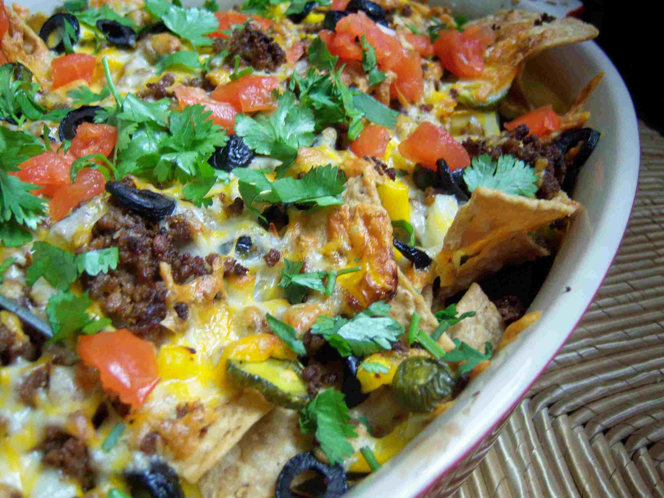 Gluten Free Macho Nacho Recipe and Image Teri Gruss