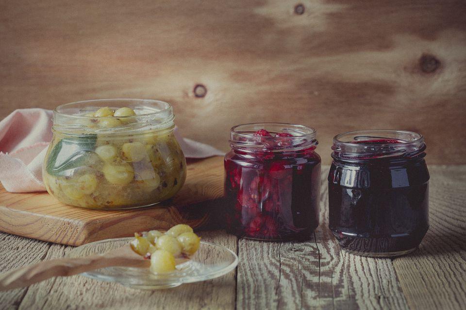 Assortment of jams