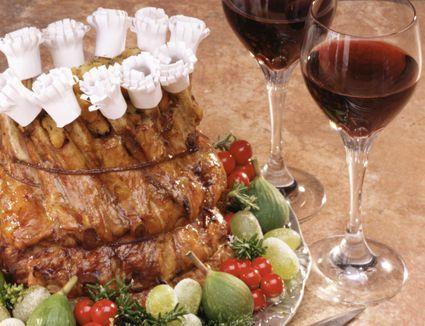 crown roast of pork, stuffed