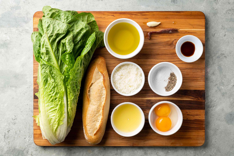 Classic Caesar Salad ingredients