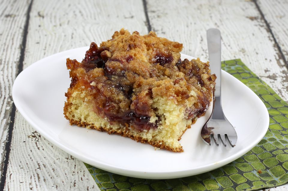 coffee cake with jam swirl
