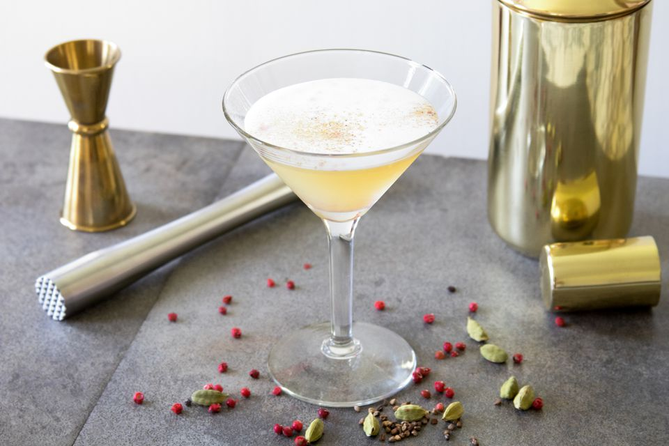 Christos Bafas's Aura in Me Cocktail With Cardamom and Pink Peppercorn