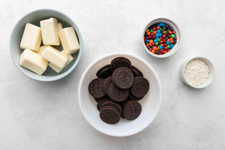 Rainbow Chocolate-Covered Cookies ingredients