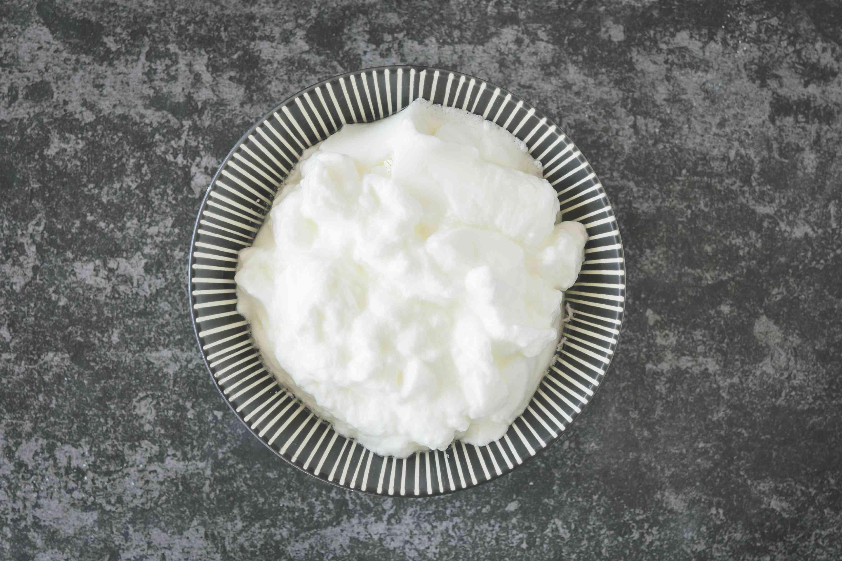 Beat egg whites