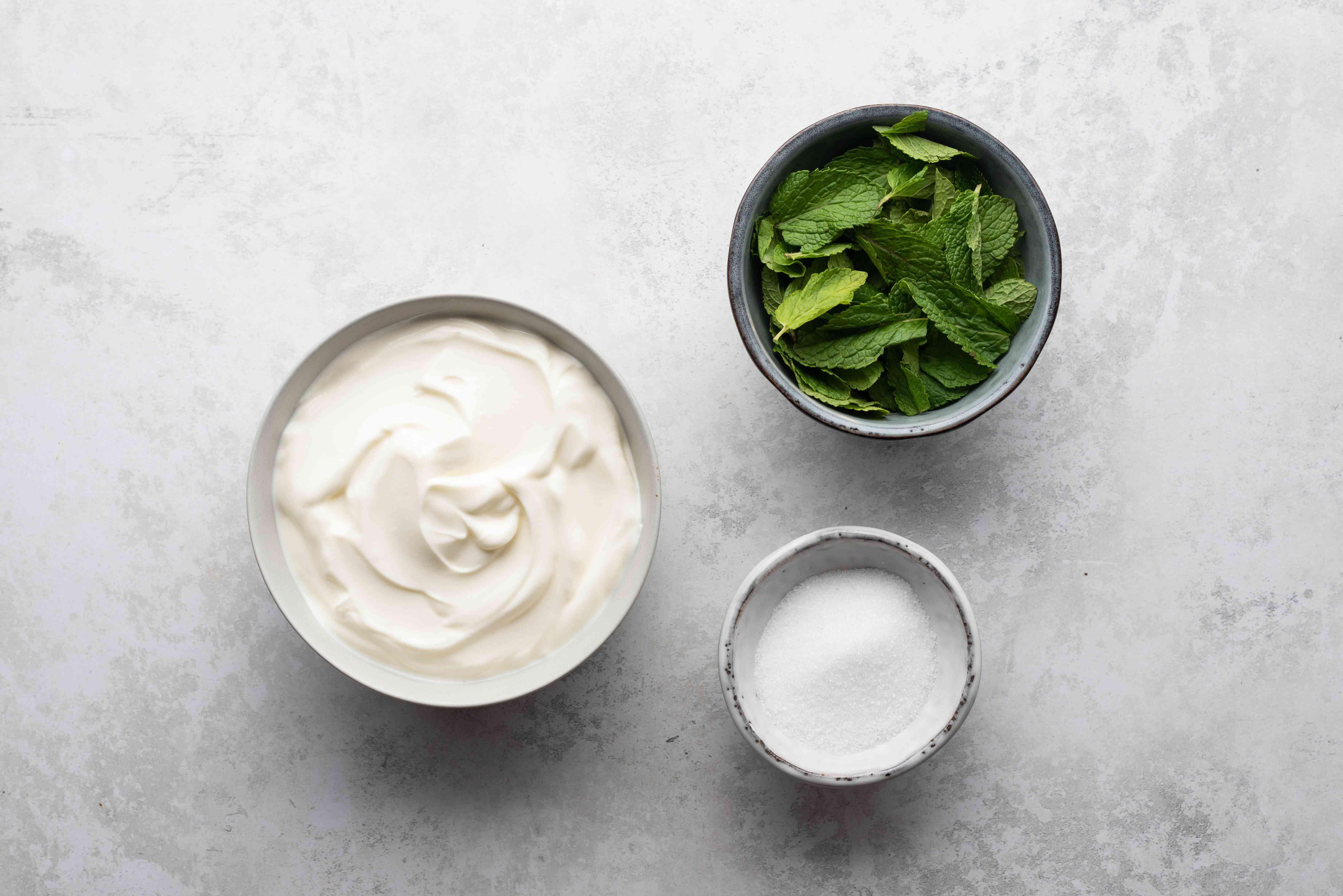 Mint Lassi: A Yogurt Smoothie ingredients