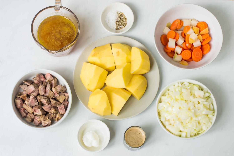 Scottish Stovies Recipe ingredients